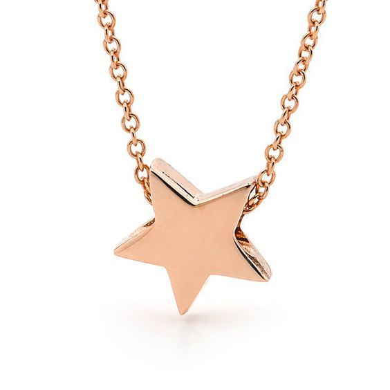 9ct Rose Gold BABY STAR Necklace