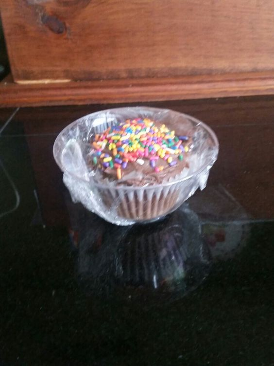 Place cupcake in a plastic and wrap with plastic wrap for easy carrying and bake sales