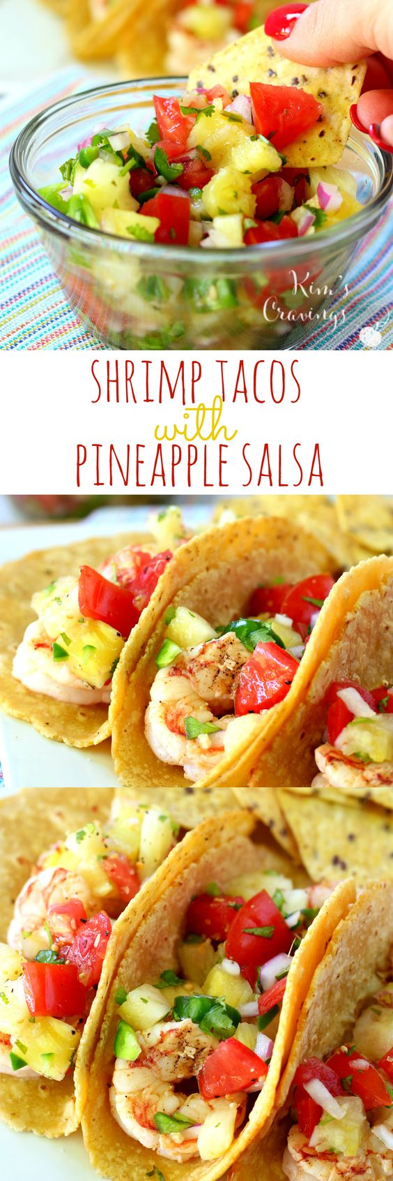 ... Shrimp Tacos with Pineapple Salsa | Recipe | Tacos, Peach salsa and