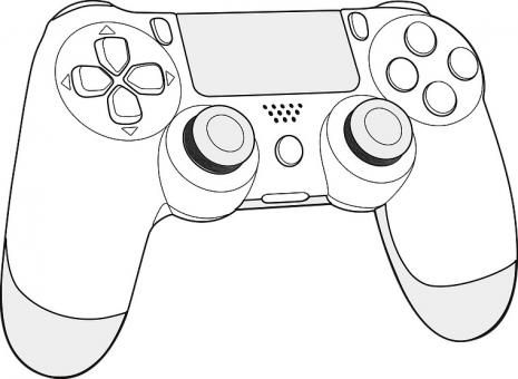 Drawn Controller Ps4 3 465 X 340 Dumielauxepices Net Ps4 Controller Control Controller Design