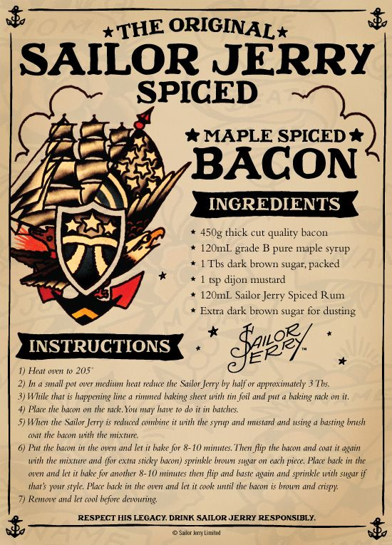 Sailor Jerry's Maple Spiced Bacon