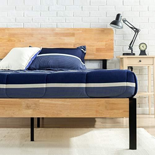 Updated Styling And Strong Wood Slat Support Wood Headboard And