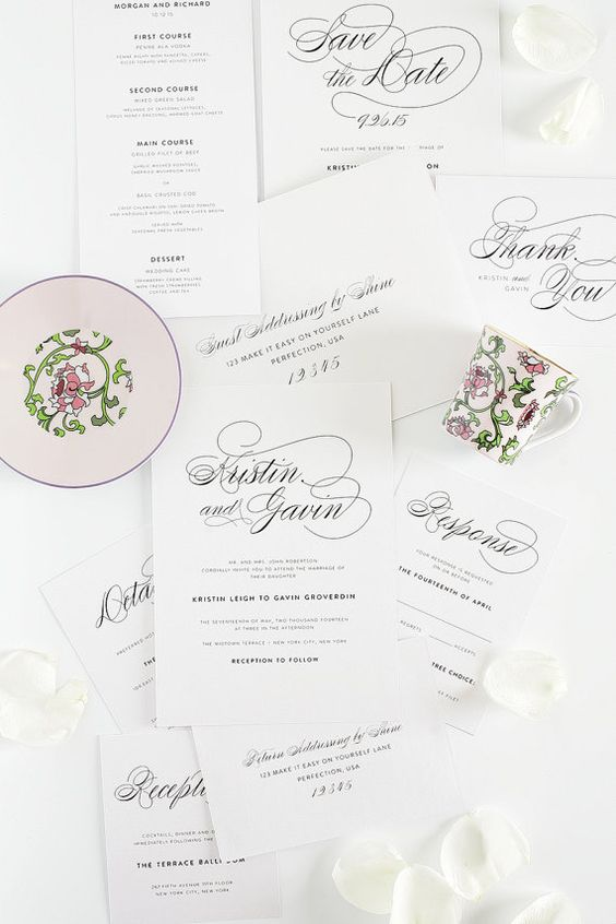 Wedding Invitation Package - Script Elegance Design