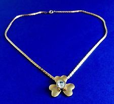 CLOVER Heart Pendant Gold Tone Chain Necklace Women Fashion Jewelry Accessories : Want more? https://bitly.com/showmemorepls