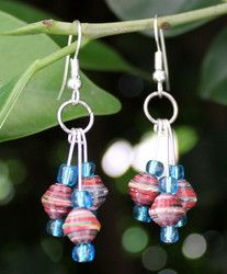 new paper bead earrings