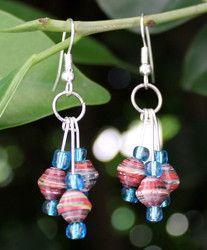 new paper bead earrings