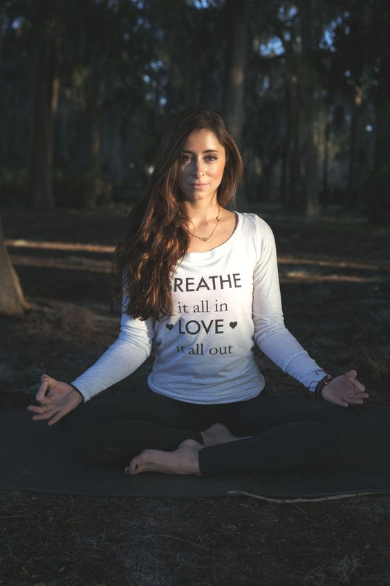 Breathe it all in Love it all out tank!