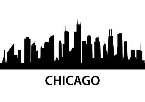 Chicago Skyline Outline Png Google Search Chicago Skyline Silhouette Chicago Skyline Chicago Art Print