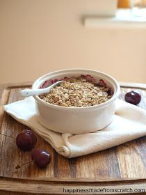 happiness made from scratch: Cherry Coconut Breakfast Crumble
