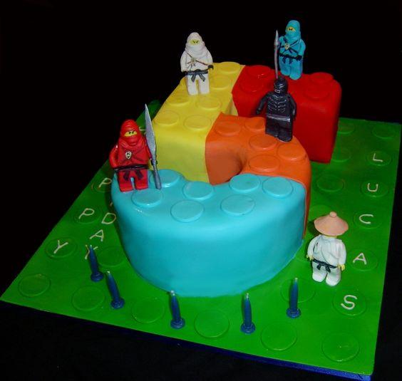 Lego Birthday Cake. For my nephew's birthday this year.