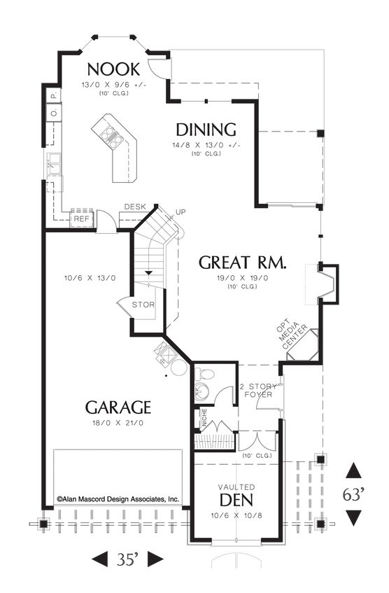 Foyer In Plan : Two story foyer house plans design