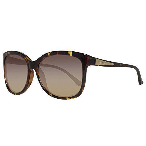 neu Damenbrille Gold Braun Sonnenbrille  eyewear sunglasses Designer Shades
