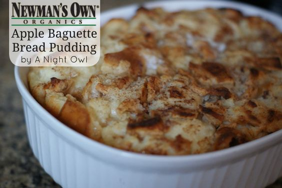 Apple Baguette Bread Pudding by http://anightowlblog.com #foodfunhop