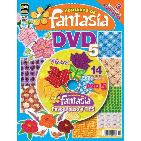 Revista Puntadas de Fantasía DVD 05 - Flores - Formato Impreso