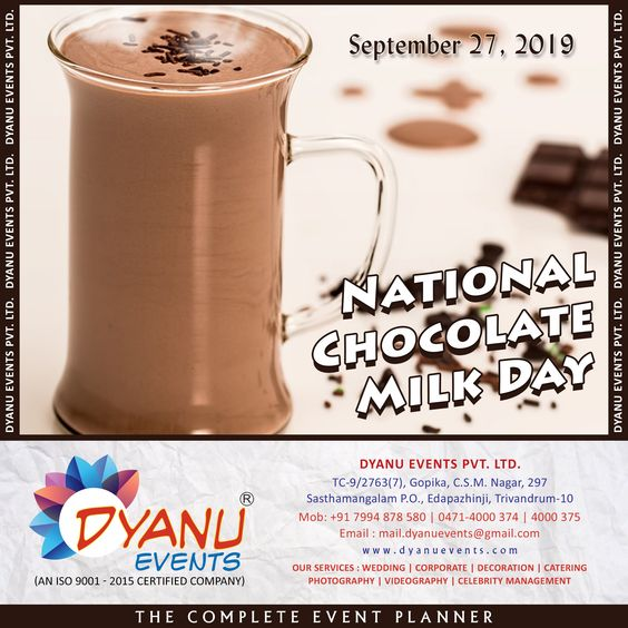 Across The Country Folks Enjoy A Tall Frosty Glass On National Chocolate Milk Day Which Is Observed Annually On September 27 Ge With Images Chocolate Milk Day Chocolate