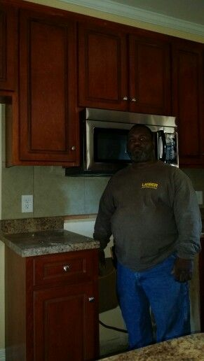 Finishing up a new home in Marion Alabama