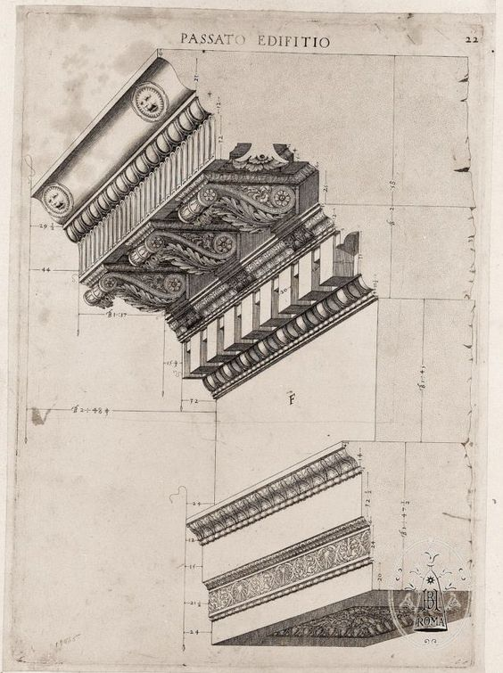 Drawings Cornices And Architects On Pinterest