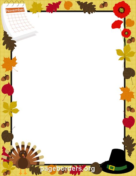 Printable Happy Thanksgiving border. Use the border in Microsoft ...
