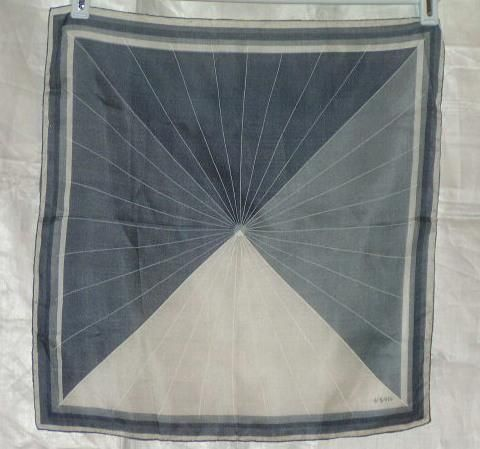 Scarves by Vera 1960s Scarf Monochrome Rays in Angles | eBay