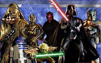 Star Wars Party Wall Banner - available at our online store - www.partyzone.com.au