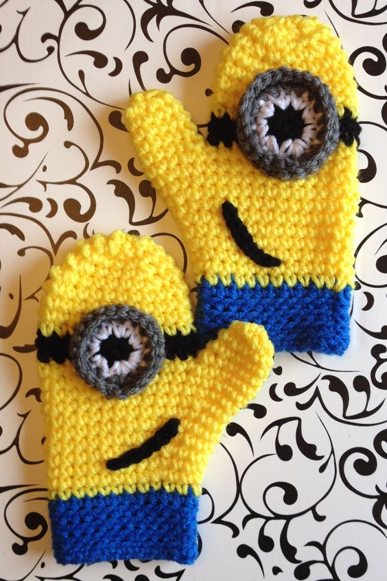 Minion Mittens Crochet by Holden Designs Pinterest ...