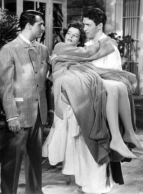 Katharine Hepburn, Cary Grant y James Stewart en 'The Philadelphia Story' (George Cukor, 1940)