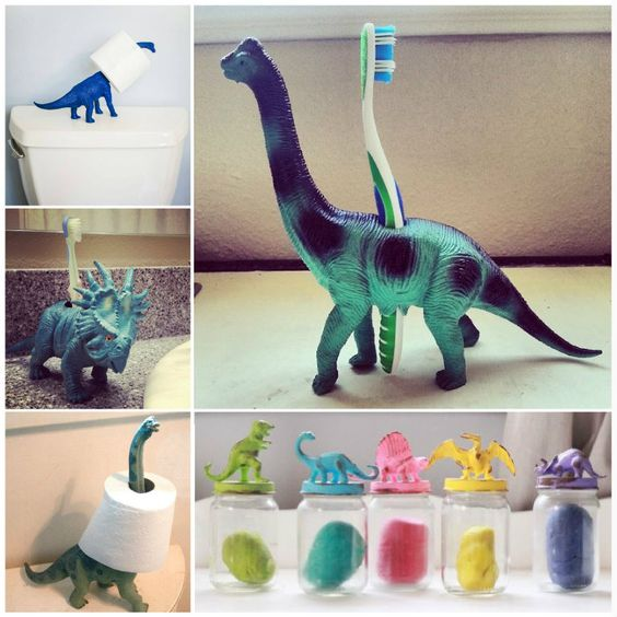 Cool organization ideas using dinosaurs diy storage diy crafts do it yourself diy projects organization dinosaurs