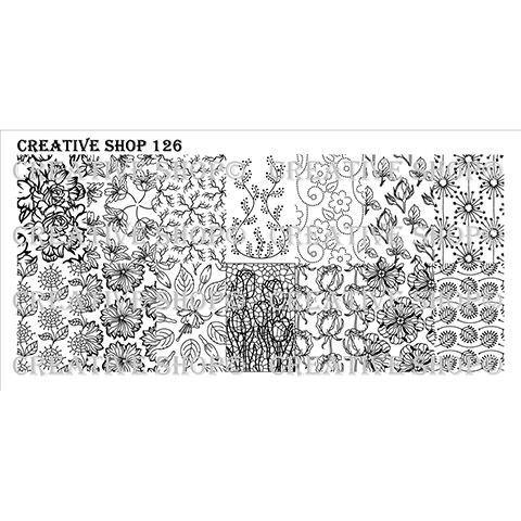 COMING SOON Creative Shop- Stamping Plate- 126
