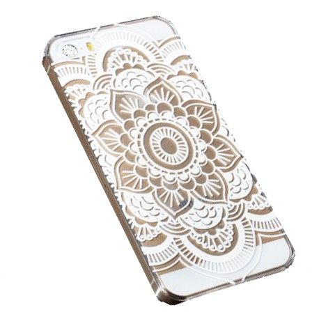 Coque mandala blanc Iphone - 4S / 5 / 5S / 6 chez Pretty Wire Home (6,90 euros)