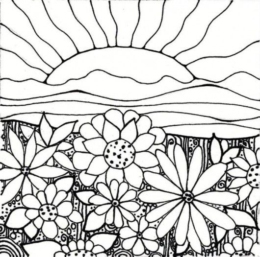 plant coloring pages Flower Garden Coloring Pages