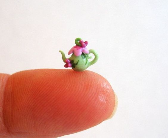1/4 Scale Miniature Fairy Blossom Teapot OOAK by C. Rohal