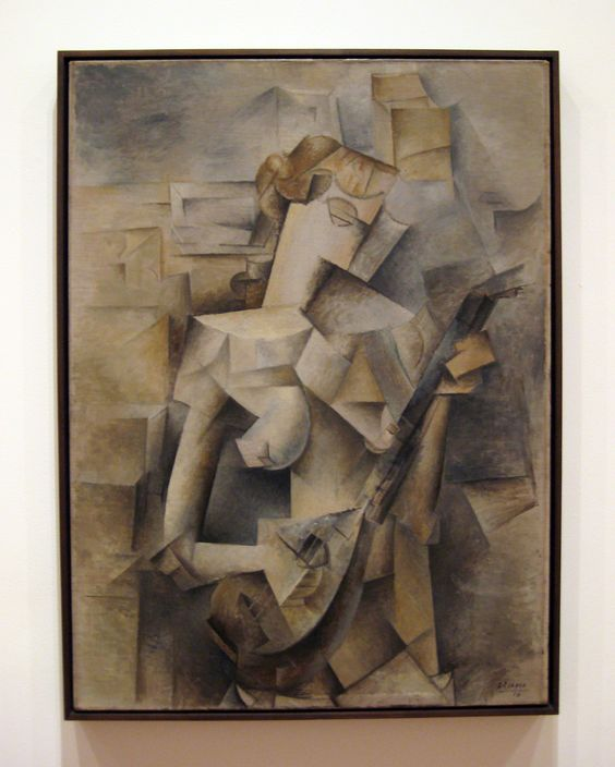 Pablo Picasso (1881-1973) Girl with a Mandolin. 1910. Oil on canvas39.5x29 in (100.3 x 73.6 cm) The Museum of Modern Art, New York
