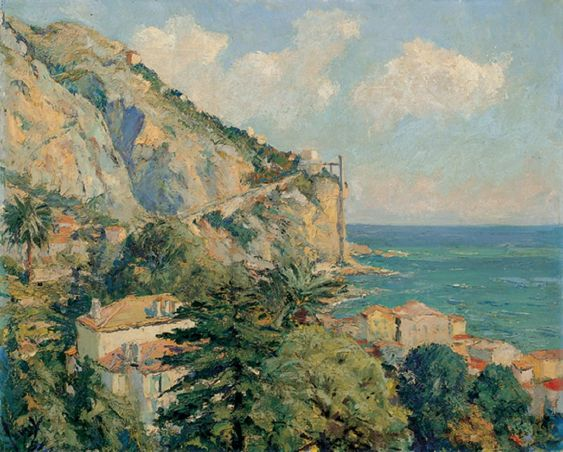 Edward Cucuel - Coastline at Menton, 1925 - 1935