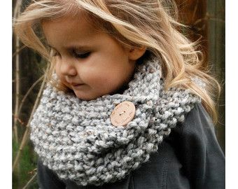 Knitting PATTERN-The Londynn Cowl Toddler Child by Thevelvetacorn