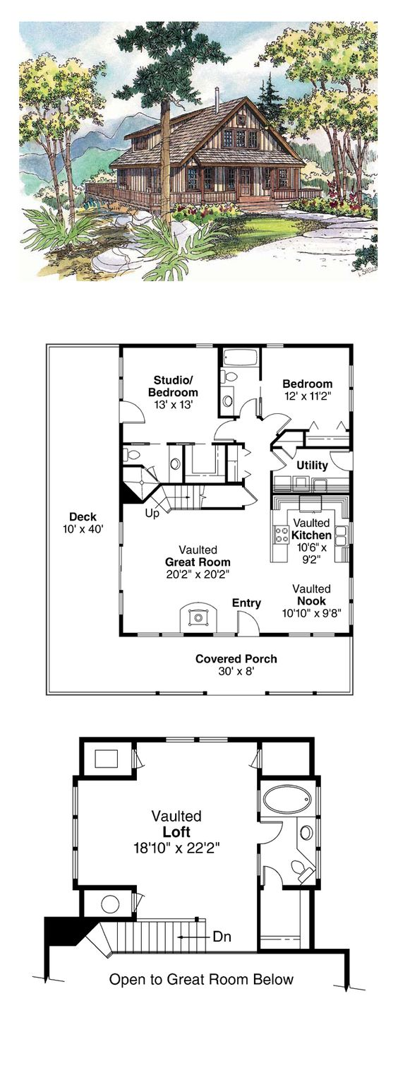 Cabin Country House Plan 69144 A Well House Plans And