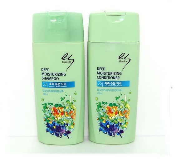 Korean Elastine DEEP MOISTURIZING Shampoo & Conditioner 200ml+200ml 2pcs set #Elastine
