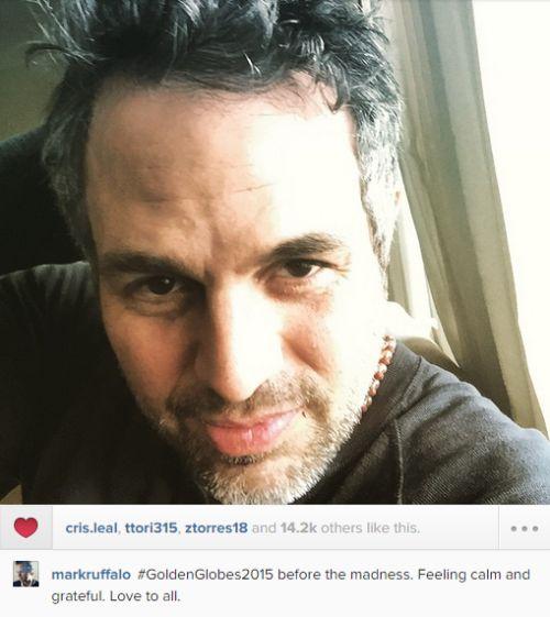 Mark deu uma passadinha pelo Instagram hj. Amei! Aproveito para desejar a ele toda a sorte do mundo no Globo de Ouro. ;)