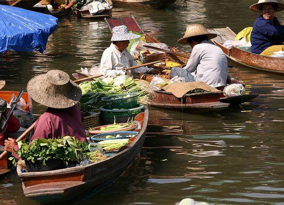 Barcas en Bangkok.