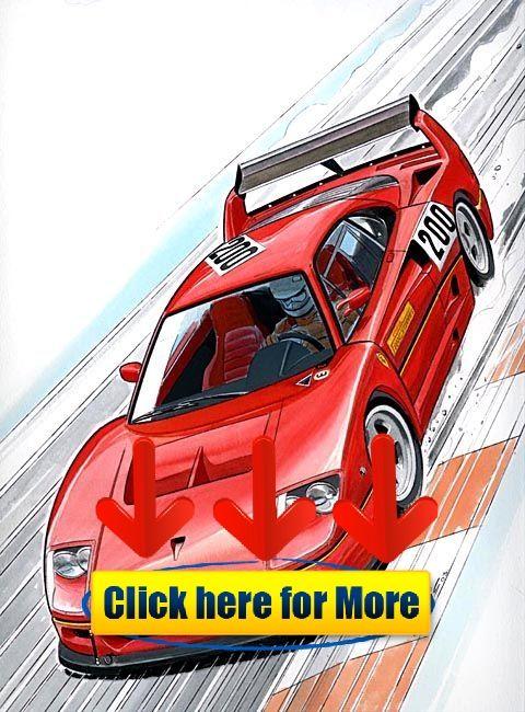 Ferrari F40 LM Clovis CAR,toon wallpaper iphonewallpaper