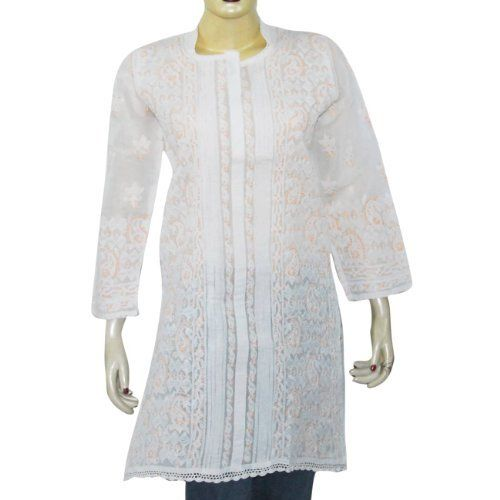Women's Clothing Top Long Sleeve Kurti India Cloth Chikan Embroidery Size M ShalinIndia, http://www.amazon.com/dp/B003NVVDUY/ref=cm_sw_r_pi_dp_HTQfqb1MN2G3M