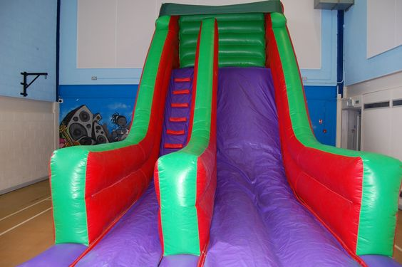 The Mega Slide! Dimensions are: 22ft long x 11ft wide x 16ft high - info@bananabouncycastles.co.uk
