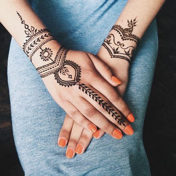 Simple Arabic Hand Henna Designs Henna Tattoo Designs Henna