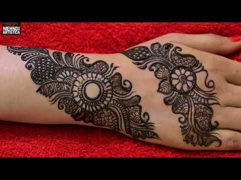 Learn Easiest Henna Mehndi Design Step By Step Mehendi Designs