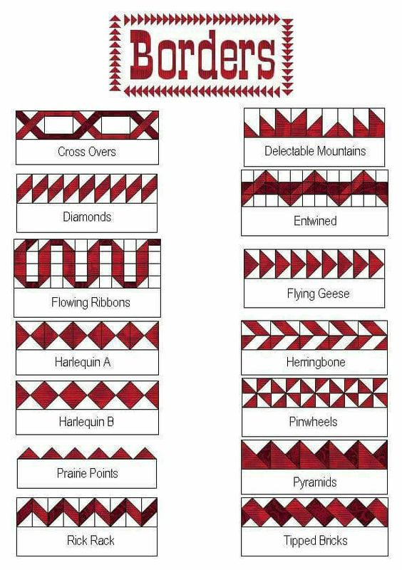 Border ideas for quilts