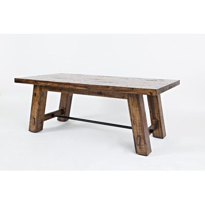 Three Posts Acushnet Solid Wood Coffee Table Wayfair In 2020 Solid Wood Coffee Table Coffee Table Wood Coffee Table