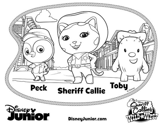 Disney Sheriff Callie Coloring Printables Pinterest