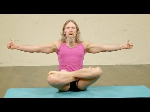 ▶ Hip opening Yoga, Flying Eagle Pose with Andrew Wren - YouTube