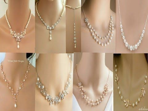 Latest Pearl Jewelry Designs//Gold Pearl Chain Collection//Simple Pearl  Necklace Designs - YouTube | Takı