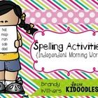 Spelling Activities {Independent Morning Work}