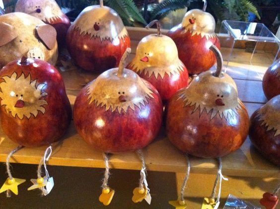 Adorable Chicken Gourds!